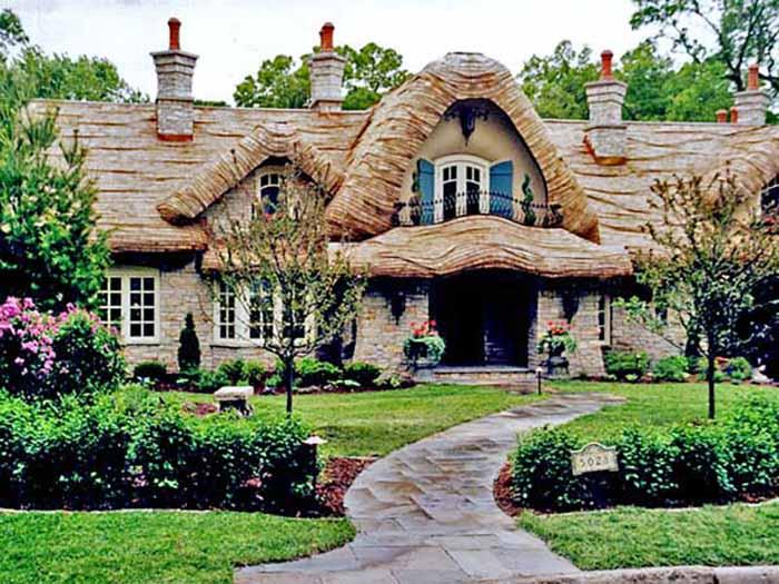仿木别墅屋顶装饰