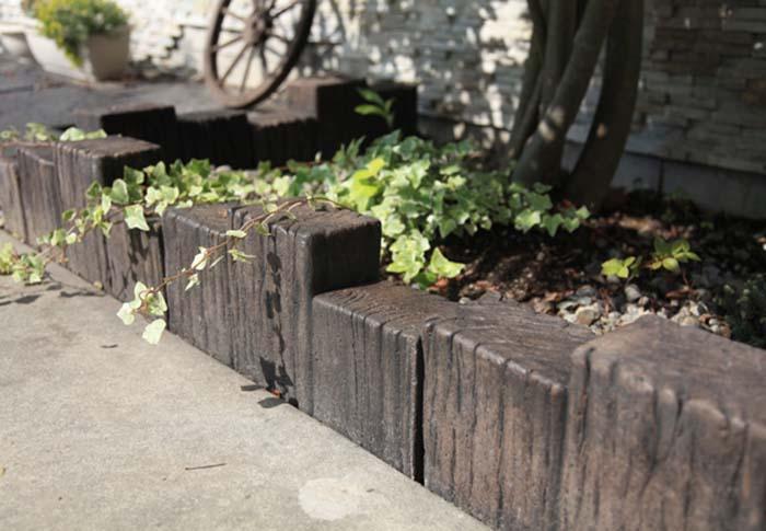 水泥仿木路牙石既美观又实用 成功案列 进来看看