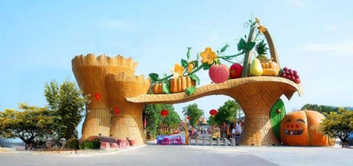 北京淡水河谷生态园大门为行业内打造镶金缀玉之作