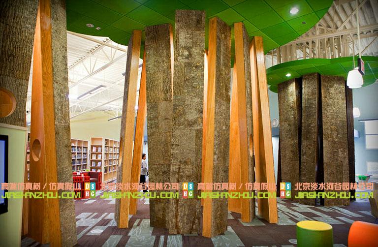 仿真树皮墙面装饰